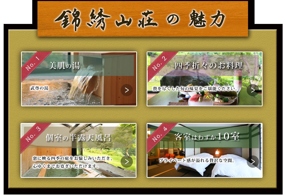 錦鍬山荘の魅力